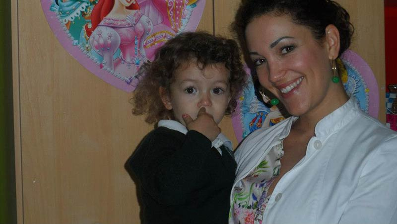 Little patient with dentist Dr Nadine Hotz. Dental Clinic Marbella.